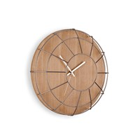 Umbra Cage Wall Clock Natural Nickel