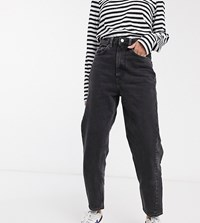 Weekday Meg Organic Cotton Mom Jean In Washed Black