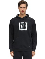 Under Armour Rival Printed Cotton Blend Hoodie Black