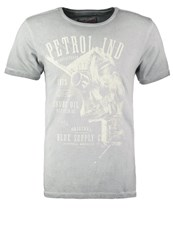 Petrol Industries Print Tshirt Bright Steel Grey