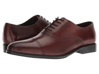 Kenneth Cole Reaction Zac Lace Up B Cognac Leather Lace Up Cap Toe Shoes Brown