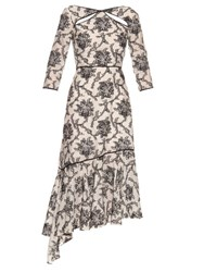 Erdem Carey Fil Coupe Dress Black White