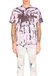 Palm Angels College Tie And Dye Tee In Purple Ombre And Tie Dye Purple Ombre And Tie Dye