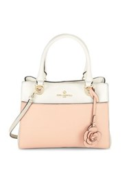 Karl Lagerfeld Floral Charm Colorblock Leather Satchel Peony Combo