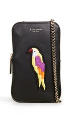Kate Spade New York Beaded Flock Party Phone Crossbody Black