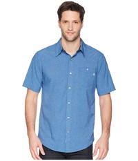 Marmot Windshear Short Sleeve Varsity Blue Short Sleeve Button Up