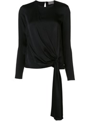 Lanvin Long Sleeve Drape Top Black