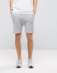 Brave Soul Textured Sweat Shorts Grey