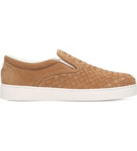 Bottega Veneta Dodger 2 Suede Skater Shoes Camel