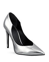 Kendall And Kylie Kendall Kylie Abi Metallic Single Sole Pointed Toe Pumps Acciaio