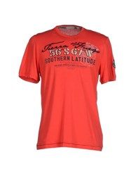 Cape Horn Topwear T Shirts Men Red