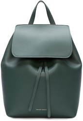 Mansur Gavriel Green Leather Mini Backpack