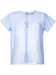 Jupe By Jackie Embroidered Dancer T Shirt Blue