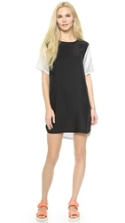 Atm Anthony Thomas Melillo Silk Tee Dress Black White