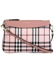 Burberry Checked Crossbody Bag Pink Purple