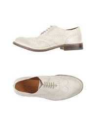 Pantanetti Lace Up Shoes Light Grey