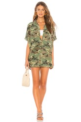 Acacia Swimwear Mombasa Shirt Dress Army