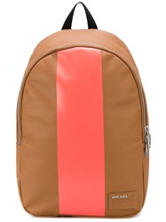 Diesel Paintit Backpack Women Calf Leather One Size Brown