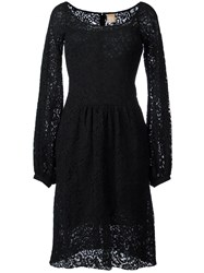 Pascal Millet Bell Sleeve Lace Dress Black