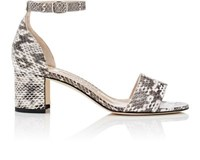Manolo Blahnik Women's Lauratomod Snakeskin Sandals White Black Nude White Black Nude