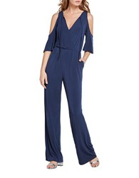 Bcbgeneration Cold Shoulder Jumpsuit Navy