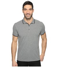 Kenneth Cole Polo With Tipping Flannel Heather Men's Short Sleeve Pullover Gray