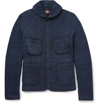 Rrl Two Tone Knitted Cotton Jacket Black