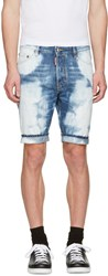 Dsquared2 Blue Denim Glam Head Shorts