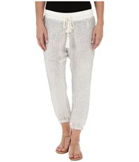 Amuse Society Briar Sequin Chiffon Harem Pants Casa Blanca Women's Casual Pants White