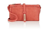 Fontana Milano 1915 Women's Mini A Suede Crossbody Bag Md. Red