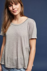 Anthropologie Tie Back Tee Dark Grey