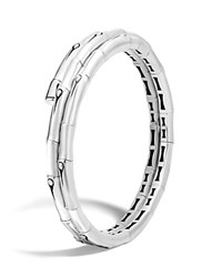 John Hardy Bamboo Sterling Silver Silver Small Double Coil Bracelet 100 Bloomingdale's Exclusive