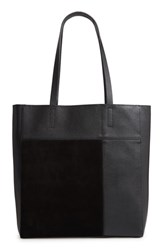 Treasure And Bond Andi Leather Suede Tote Black