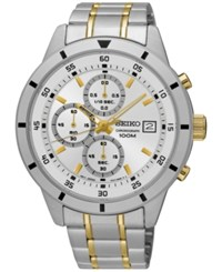 Seiko Men's Special Value Chronograph Two Tone Stainless Steel Bracelet Watch 44Mm Sks563 Two Tone
