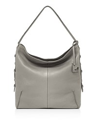 Botkier Soho Leather Hobo Soft Gray Gunmetal