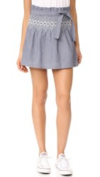Current Elliott The Short Rancher Skirt Chambray With Off White
