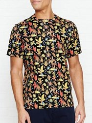 Paul Smith Ps By Palm Tree Print T Shirt Black