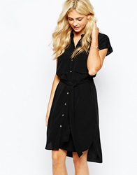 Oasis Military Shirt Dress Black