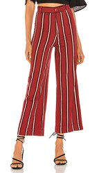 Amuse Society Millie Pant In Red. Fig
