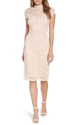 Rosemunde Delicia Lace Body Con Dress Pale Dogwood