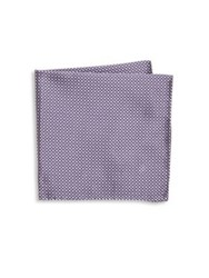 Armani Collezioni Tricolor Silk Pocket Square Grey