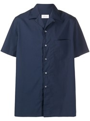 Brioni Short Sleeve Fitted Shirt Blue