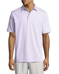 Peter Millar Jubilee Micro Striped Stretch Polo Shirt Violet