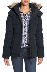 Canada Goose Women's 'Chelsea' Slim Fit Down Parka With Genuine Coyote Fur Trim Ink Blue