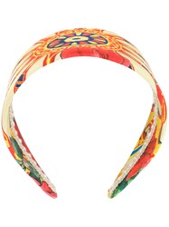 Dolce And Gabbana Printed Headband Multicolour