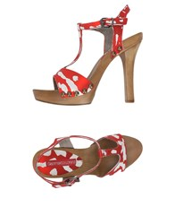 Gianmarco Lorenzi Sandals Red