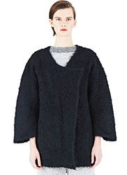 Lauren Manoogian Knitted Liner Coat Black