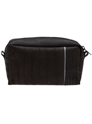 Luisa Cevese Riedizioni Leather Patch Shaving Bag Black
