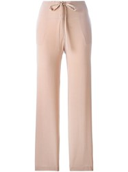 Theory Wide Leg Trousers Pink Purple