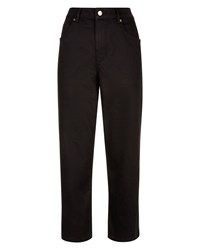 Jaeger High Rise Wide Cropped Jeans Black